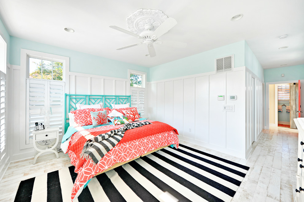 Trina Turk Bedding Bedroom Beach with Beach Home Black and White Striped Rug Blue and White Board And