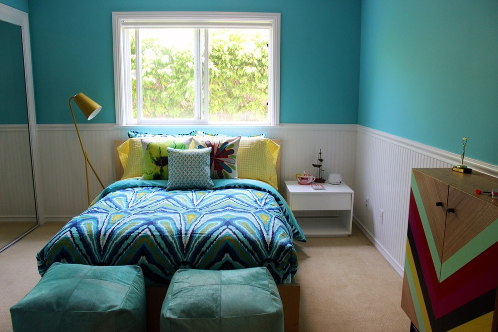 Trina Turk Bedding Kids Contemporary with Bold Bedding Contemporary Ottomans Teal Blue an White Teenage Girl Trina Turk