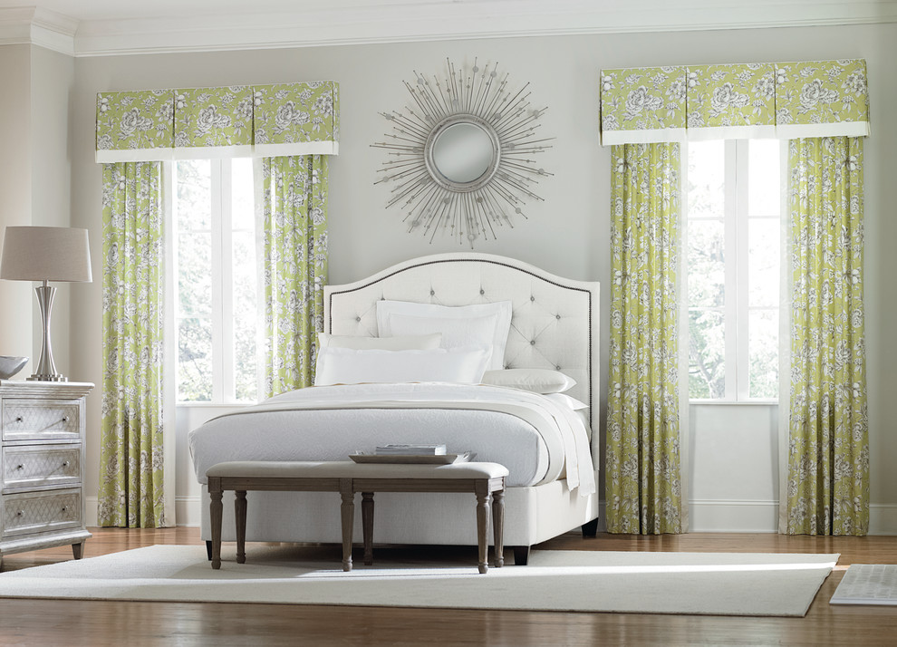 Tropical Bedspreads Bedroom Transitional with Bedroom Budget Budget Blinds Curtains Drapery Drapery Fabric Drapes Floral Print Green
