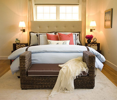 Tufted Bed Frame Bedroom with Master Bedroom