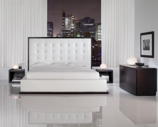 Tufted Beds Bedroom Contemporary with Contemporary Bed Ludlow Bed Modern Bed Modloft Rove Concepts