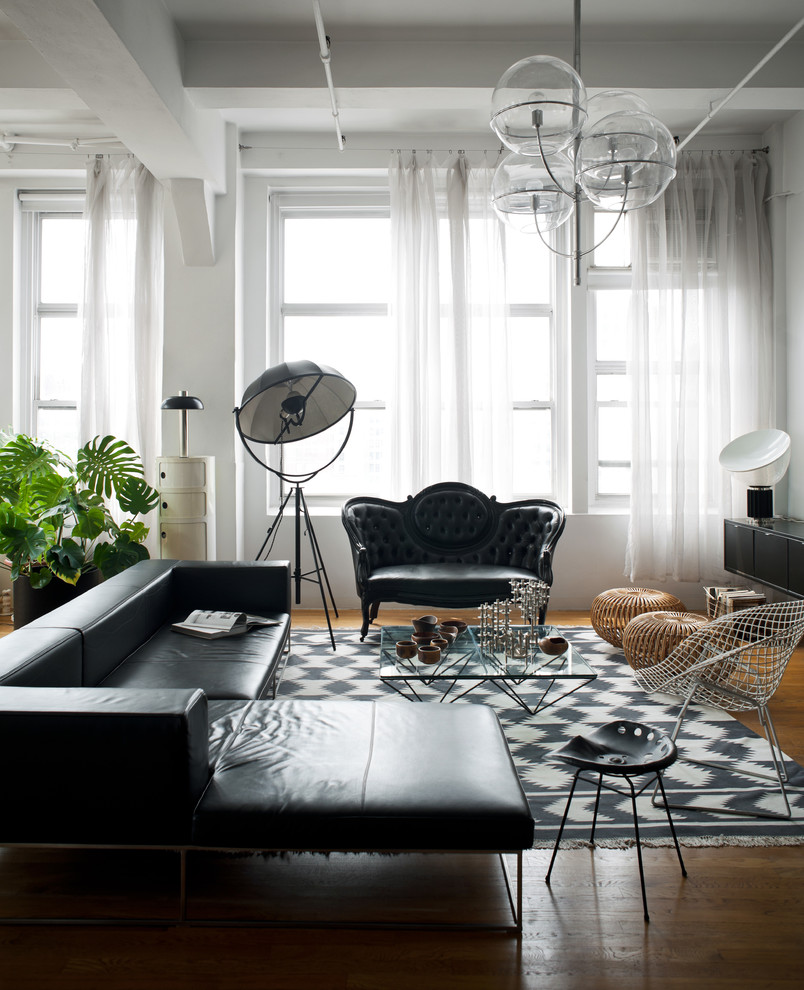 Tufted Settee Living Room Victorian with Black Black and White Black and White Rug Black Love Seat Black