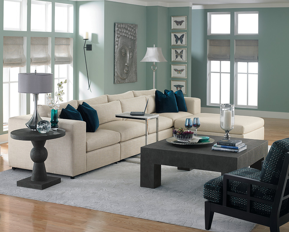tv tray tables Living Room with comfortable long island modern NY Sayville sectional