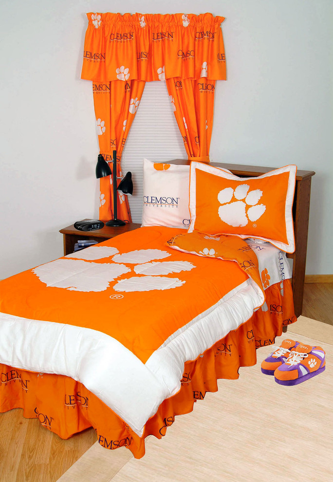 twin comforter sets Bedroom Modern with clemson bedding clemson comforter clemson room decor clemson sheets clemson tigers bedding