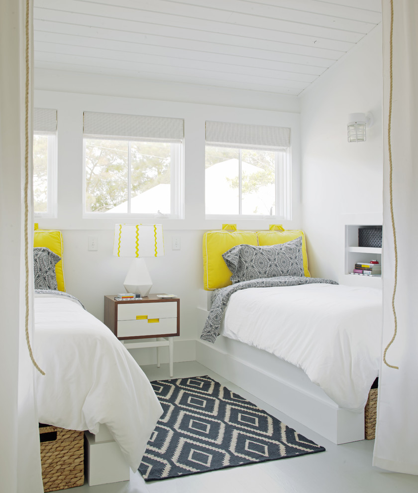 twin extra long sheets Bedroom Transitional with airy beach house bead board beams Bedroom causal coastal comfortable contemporary cottage