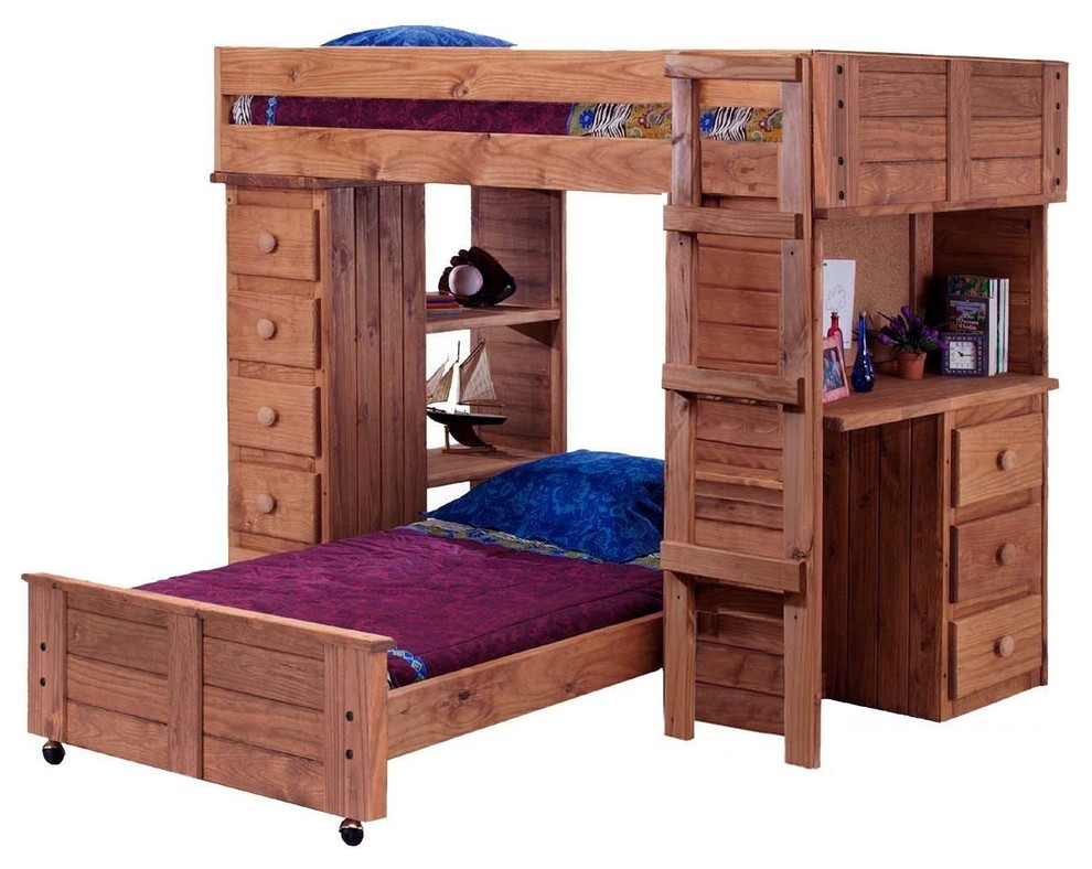 Twin Loft Beds Bedroom Contemporary with Chelsea Home Twin Over Twin Student Loft Bed W Panel Hbfb