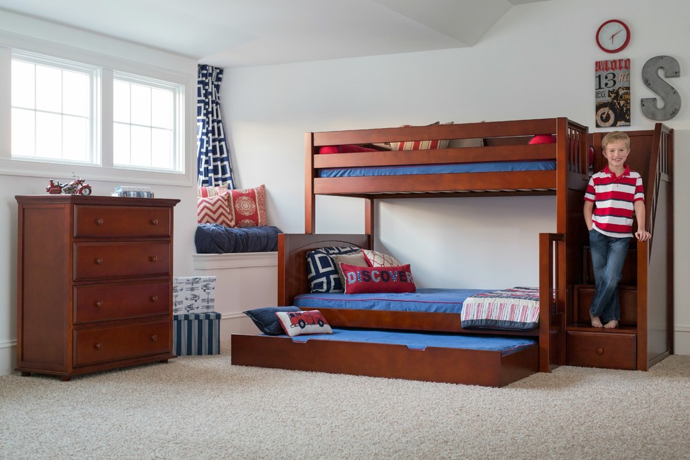 Twin Over Full Bunk Beds Kids Contemporary with Boys Bedroom Boys Bunk Bed Boys Bunks Boys Dresser Boys Furniture Boys