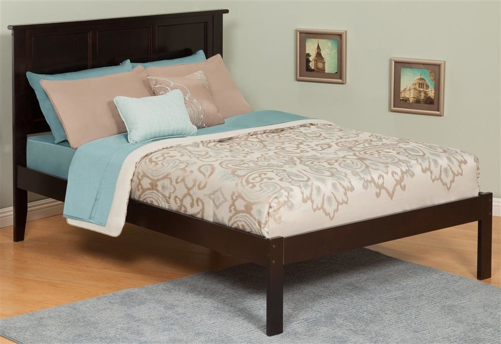 Twin Platform Bed Bedroom Contemporary with None 2