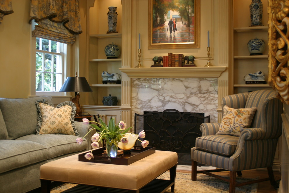 Unique Bookends Family Room Traditional with Blue and Brown Built in Shelves Ceramics Collection Elephant Bookends Fireplace Mantel