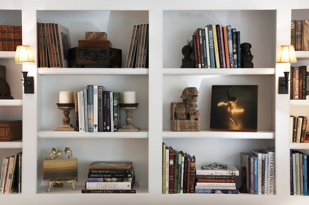 Unique Bookends Living Room Transitional with Art Bookshelf Bookshelves Collection Display Frames Framing Installation Objets Dart Painting Sculpture