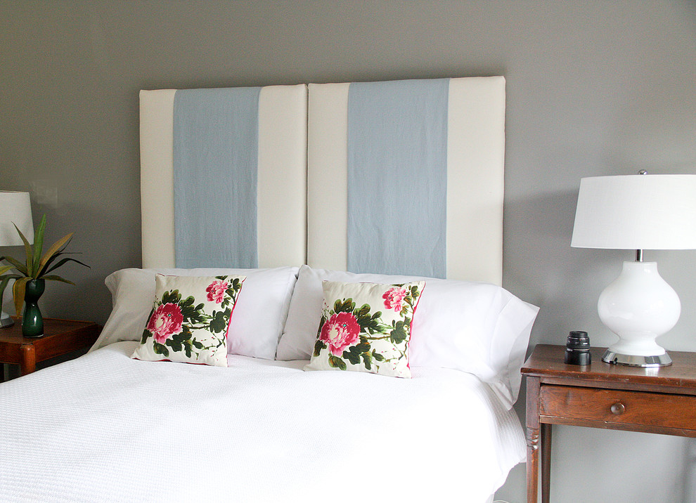 Upholstered Headboard Bedroom Eclectic with None