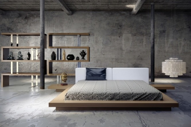 Upholstered Platform Bed Bedroom Contemporary with Contemporary Bed Modern Bed Modloft Rove Concepts Waverly Bed