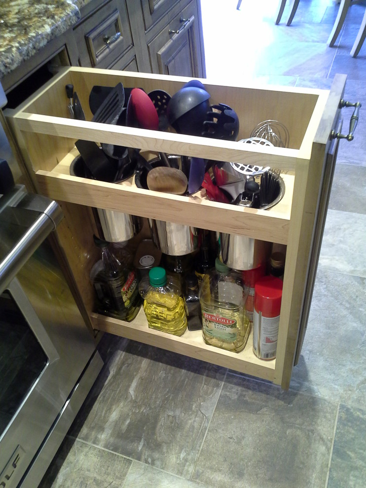 Utensil Holder Kitchen Traditional with Magic Corner Pull Out Bucks County Pa Dishwasher Drawer Distressed Grey Cabinets