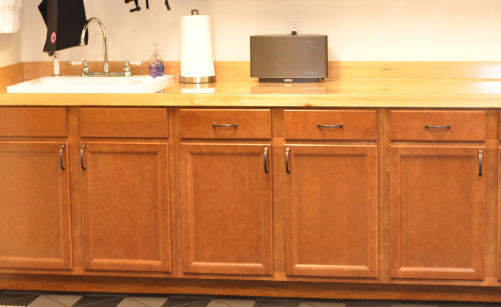 Utility Sink Cabinet Spaces Traditional with Counter Top Medium Brown Cabinet Utility Sink