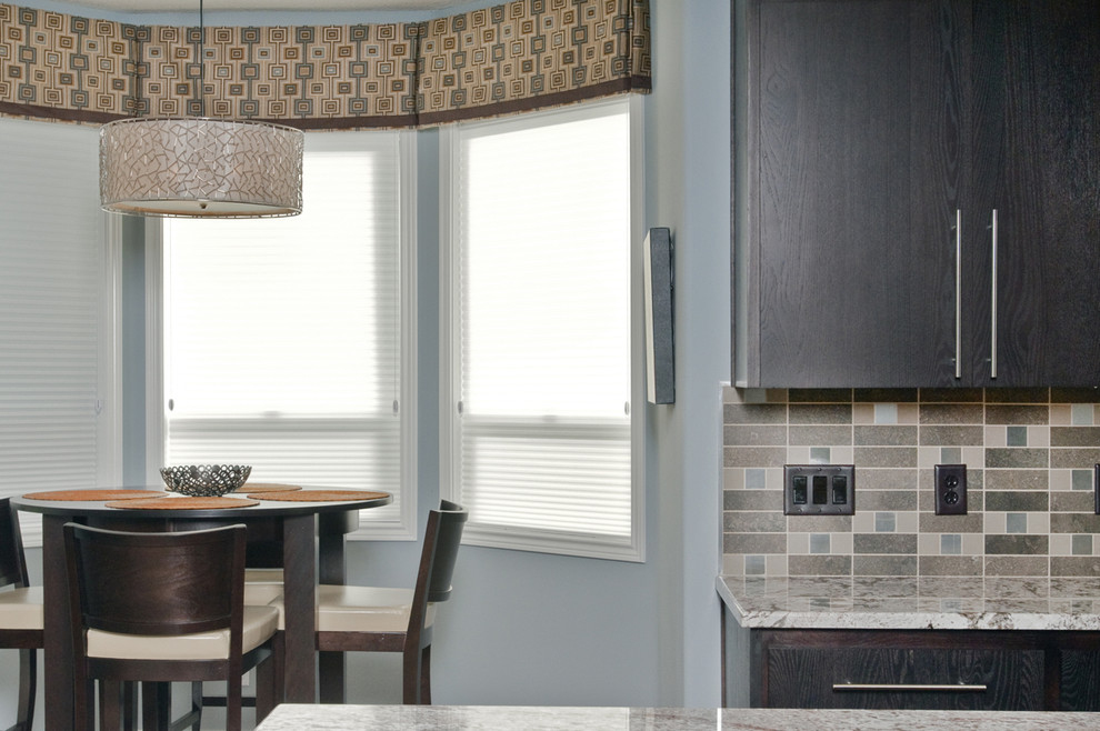 Valances for Windows Kitchen Contemporary with Bay Window Blue and Brown Blue Wall Dark Wood Cabinets Door Handles