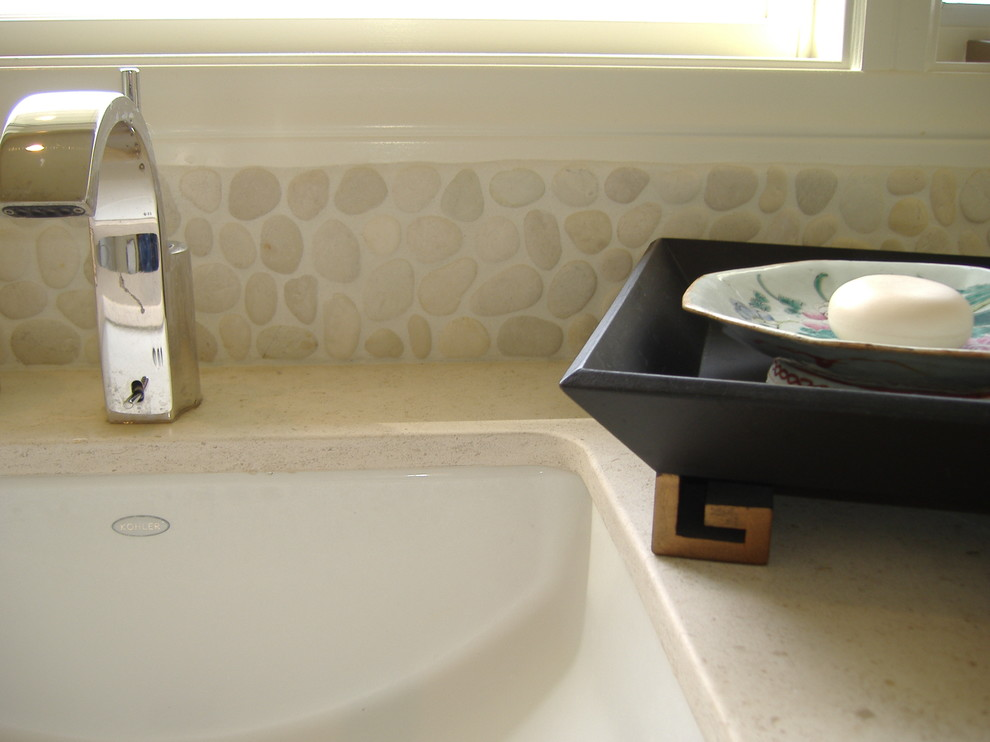 Vanity Tops with Sink Bathroom Traditional with Asian Style Bright Httpwwwzenparadisenet Modern Style Natural Stone Tiles Stone Tiles Tropical