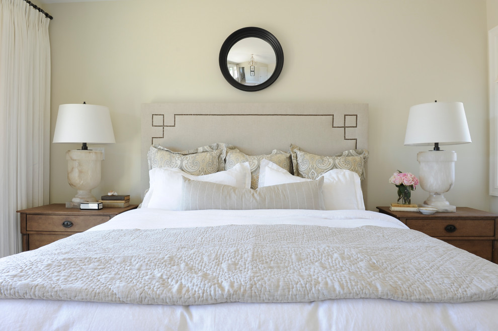 Veratex Bedding Bedroom Traditional with Antique Oak Bedside Tables Bed Pillows Bedside Table Belgian Linen Quilt Convex