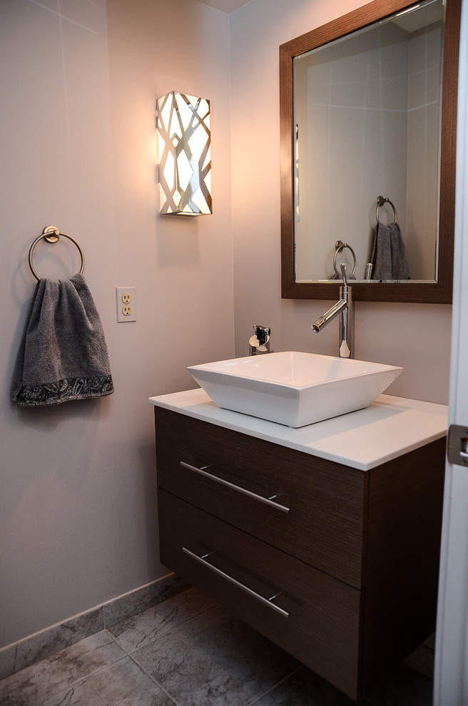 Vessel Sink Powder Room Contemporary with Modernvanitiescomwall Mounted Vanity