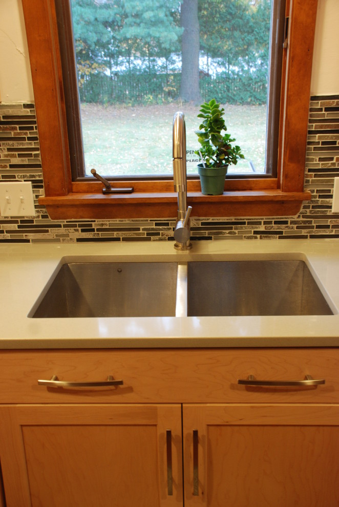 Vigo Sinks Kitchen Eclectic with Backsplash Concrete Contemporary Cork Faucet Hood Modern Natural Maple Sink Stainless Stainless
