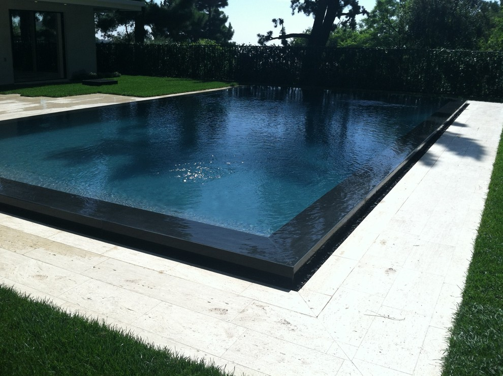 Waffle Weave Robe Pool Modern with Beautiful Pools