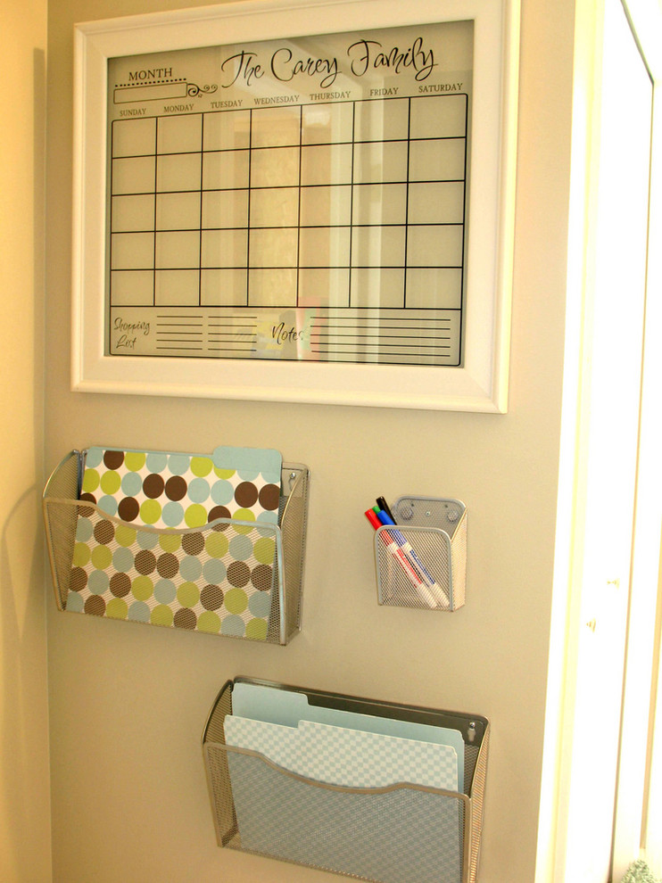 Wall File Holder Home Office Contemporary with Calendar Message Center Organization Storage Wall Hanging