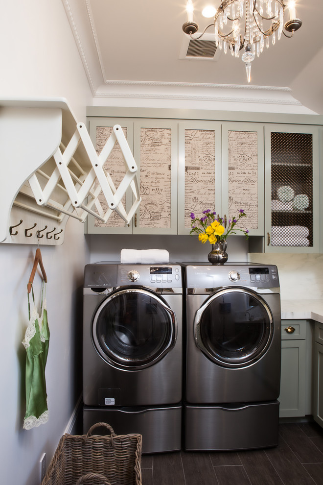 Wall Hook Rack Laundry Room Traditional with Basket Chandelier Flowers Hanging Rack Vase Wall Hooks