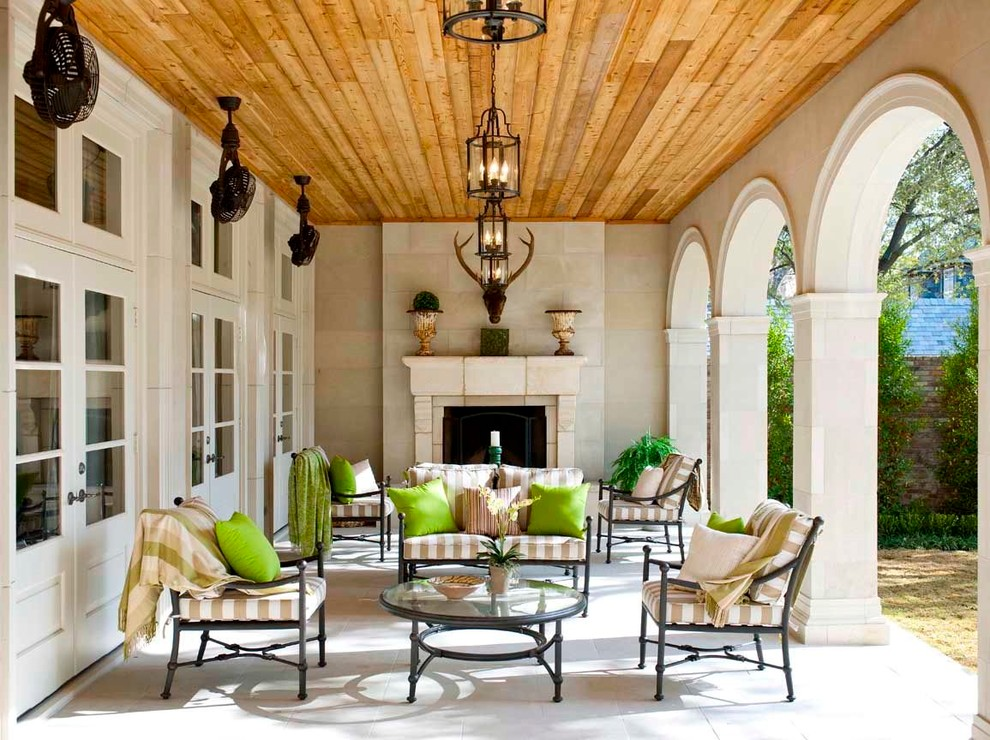 Wall Mount Oscillating Fan Patio Traditional with Arched Entries Arches French Doors Glass Coffee Table Hanging Fans Lime Green