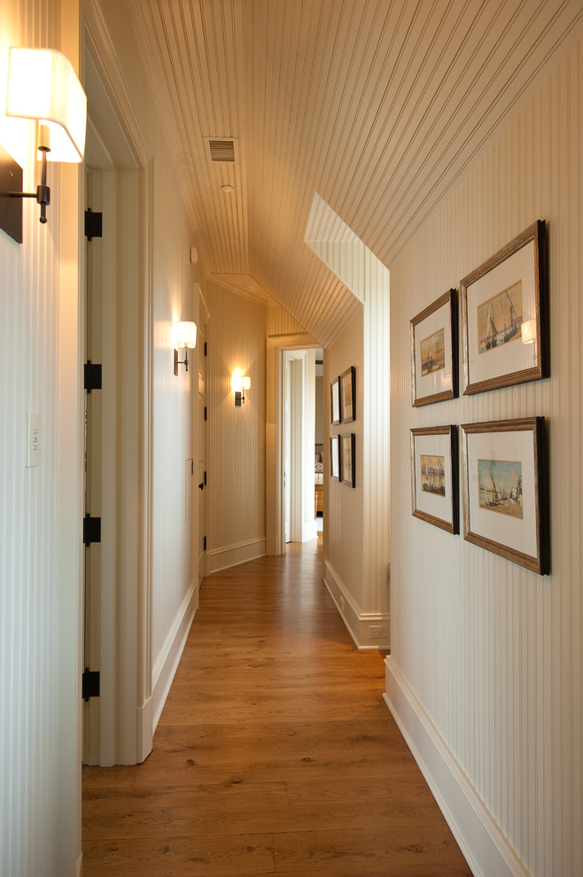 Wall Sconces with Switch Hall Traditional with Hallway Wall Sconce White Ceiling White Walls White Wood Panels White Wood