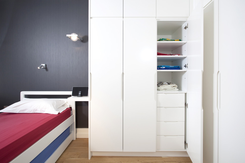 Wardrobe Closets Kids Contemporary with 7 Year Old Boys Bedroom Blue Bedding Built in Closet Built in Wardrobe Closet