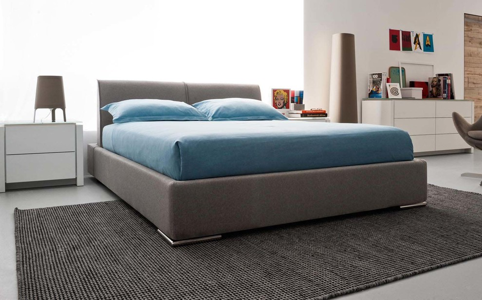 Waterbed Sheets Bedroom Modern with Adjustable Alameda Bed Calligaris Chrome Headboard Italian King Queen Upholstered