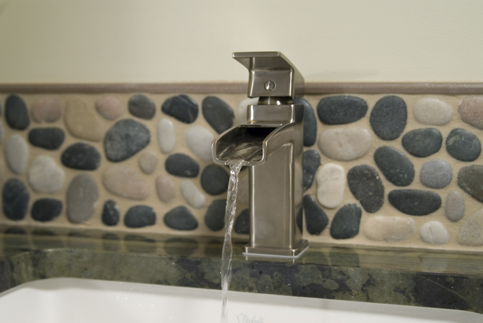 Waterfall Faucet Bathroom Asian with None
