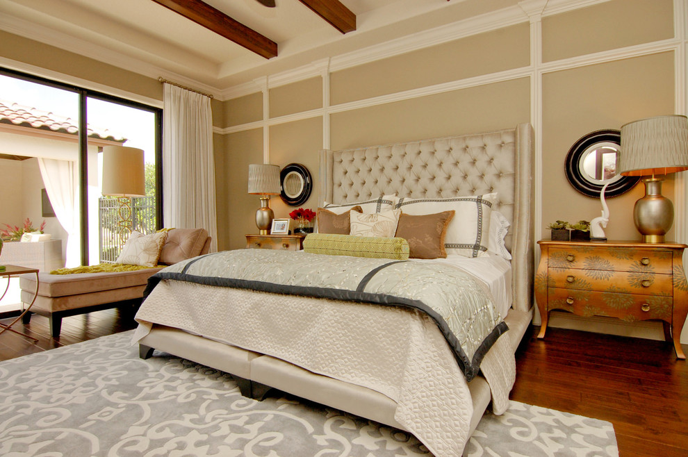 wayfair rugs Bedroom with area rug beam bolster chaise clean dresser Eclectic gold light luxury mixed
