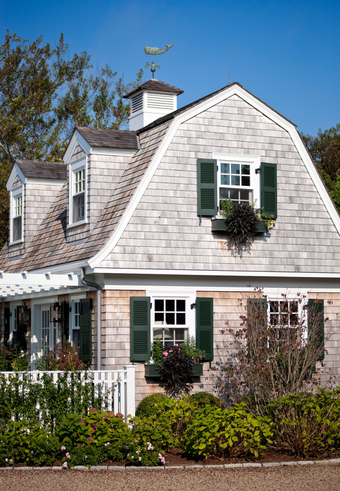 Weathervanes Exterior Victorian with Beach Style Brick Border Cape Cod Style Coastal Style Dark Green Shutters