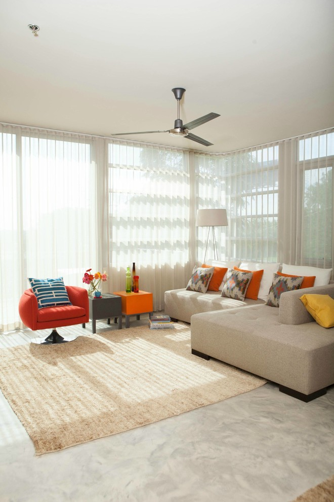 Westinghouse ceiling fans living room industrial with ceiling fan city view concrete ceiling - Westinghouse and living ...