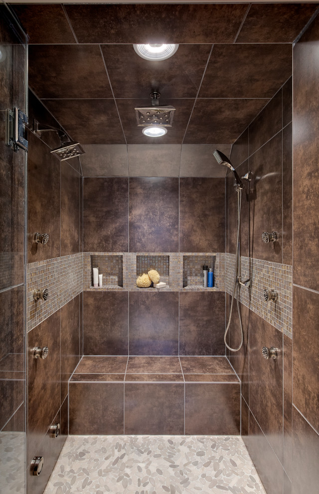 Wheelchairs for Sale Bathroom Contemporary with Bath Design Chicago Brown Mosaic Tile Shower Brown Shower Brown Tile Shower