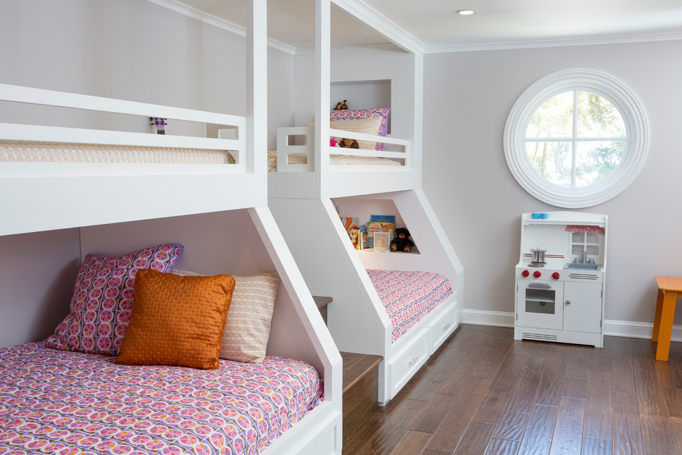 White Bunk Beds with Stairs Kids Traditional with Beige Wall Built in Bunk Beds Double Bunk Beds Kids Kitchen Kids Playset