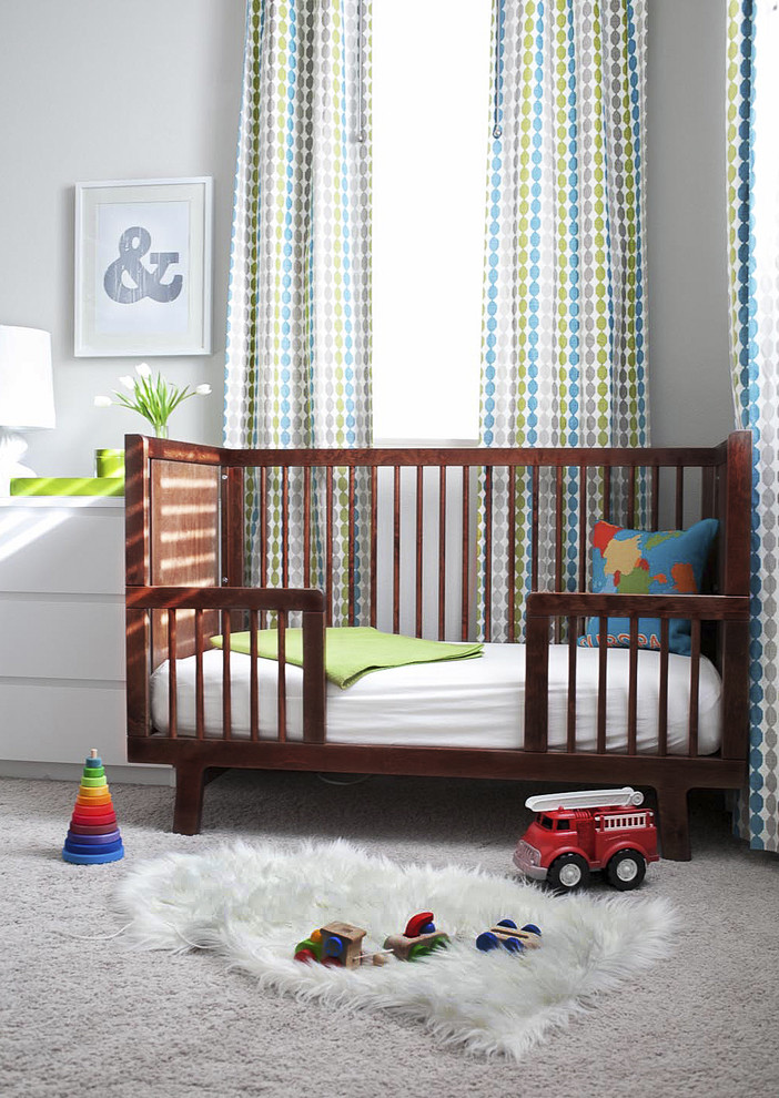 white convertible crib Nursery Traditional with baby bed bed carpet chest-of drawers crib curtain draperies gender neutral nursery