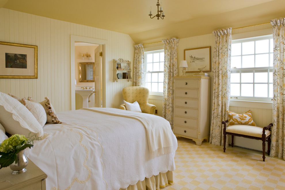 White Coverlet Bedroom Victorian with Antiques Checkerboard Connecticut Interior Designer European Bedroom Feminine Interior Decorator New England