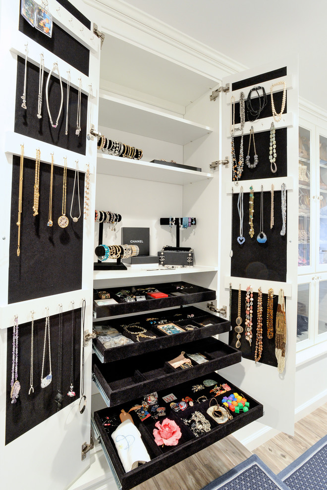 White Jewelry Armoire Closet Traditional with Accessories Built in Jewelry Pull Out Slide Out Trays