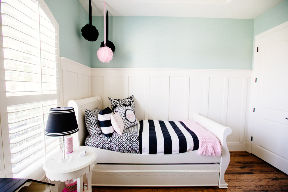 White Sleigh Bed Kids Transitional with Black and White Bedding Black and White Stripes Light Blue Sleigh Bed
