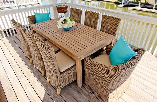 Wicker Chair Deck Beach with None