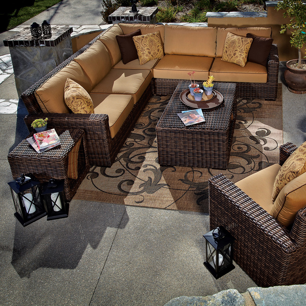 Wicker Loveseat Patio Transitional with Outdoor Club Chair Outdoor Club Chairs Outdoor Patio Furniture Outdoor Sofas Outdoor