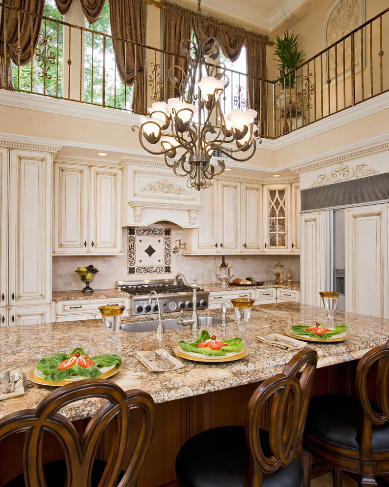 Wildon Home Furniture Kitchen Traditional with Accent Tile Apron Sink Breakfast Bar Cabinets Backsplash Balcony Barstool Barstools Beautiful