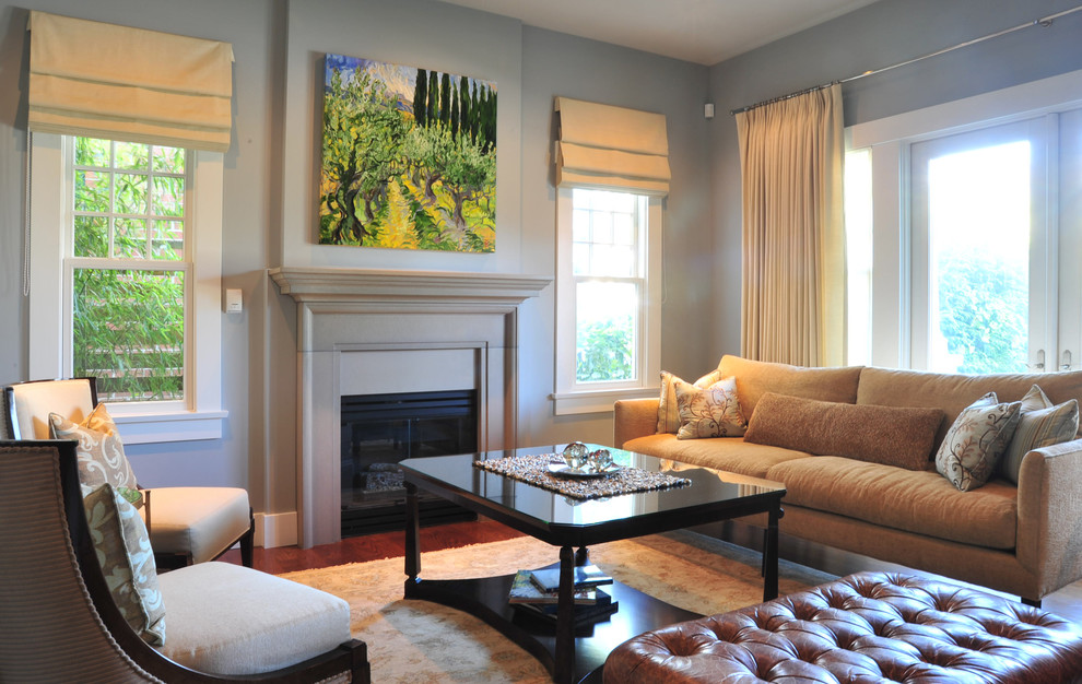 Window Drapes Living Room Traditional with Curtains Decorative Pillows Double Hung Windows Drapes Fireplace Mantel Fireplace Surround French