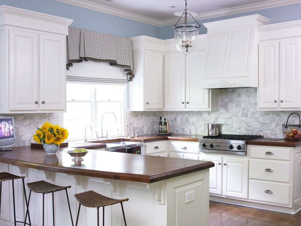 Window Toppers Kitchen Traditional with Bar Stool Black and White Valance Blue Wall Cooktop Deep Sink Farm