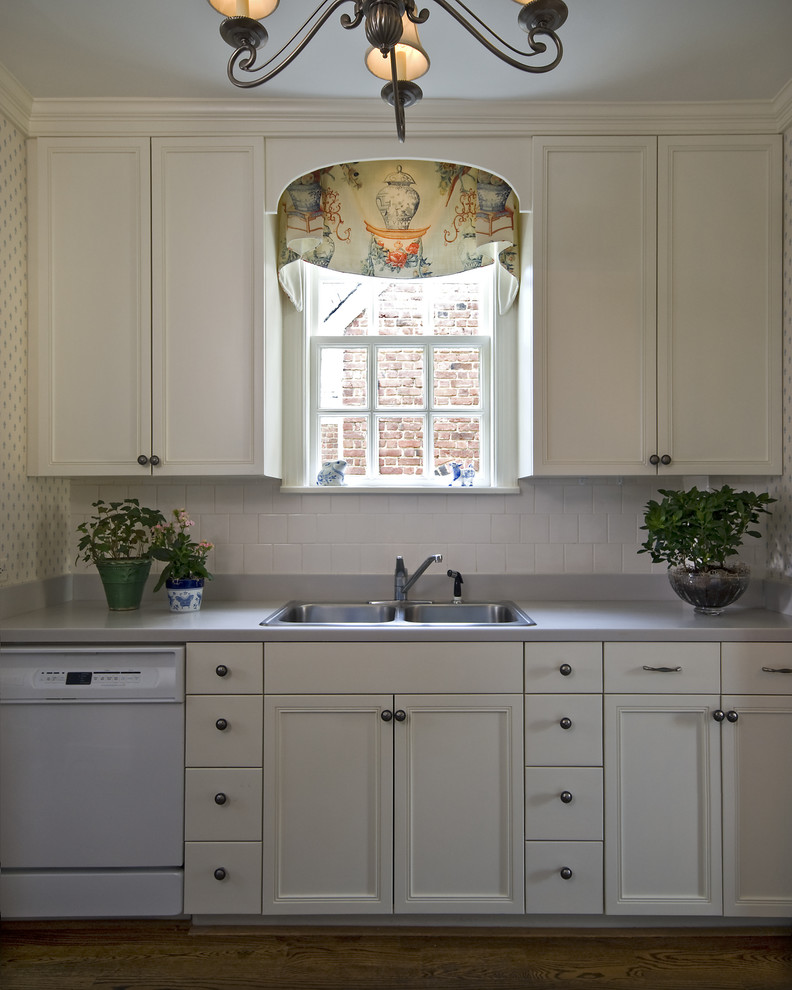 Window Valance Kitchen Traditional with Blue and White Kitchen Chandelier Frame and Panel Gray Counters Stainless Steel