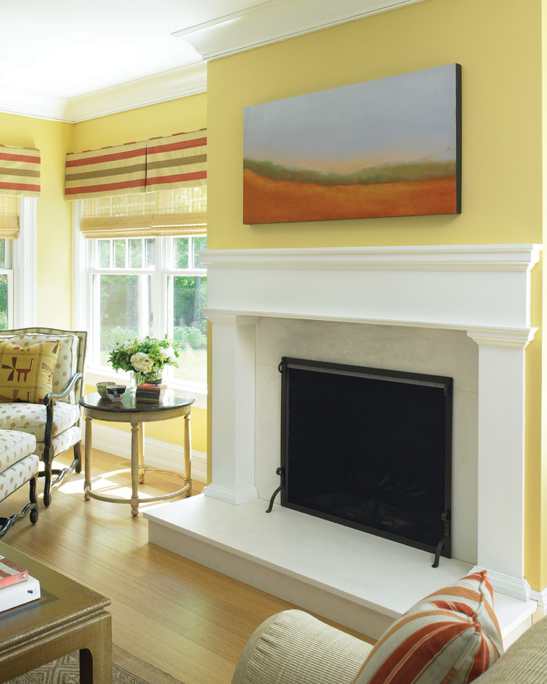 window valances Living Room Victorian with Fireplace landscape painting mantle marble fireplace molding moulding yellow
