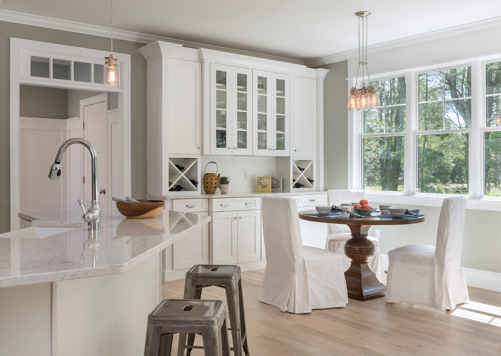 Wine Hutch Kitchen Farmhouse with Chair Covers Eclectic Lighting Kitchen Island Mason Jars Modern Farmhouse Round Dining