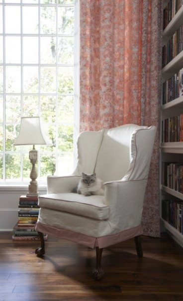 wing chair slipcover Home Office Traditional with none