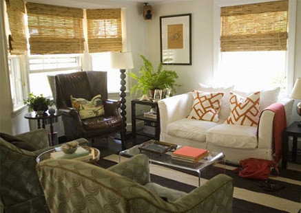 Wingback Chair Slipcovers Living Room Eclectic with Bamboo Blinds Leather Wingback Chair Slipcovered Couch Small Den White Sofa